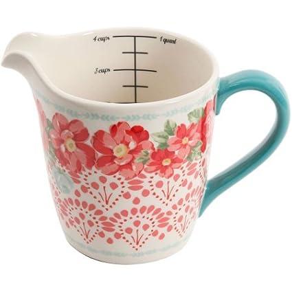 El Pioneer Mujer Vintage Floral 4 piezas medición cuenco con ml taza de medir, 5 piezas): Amazon.es