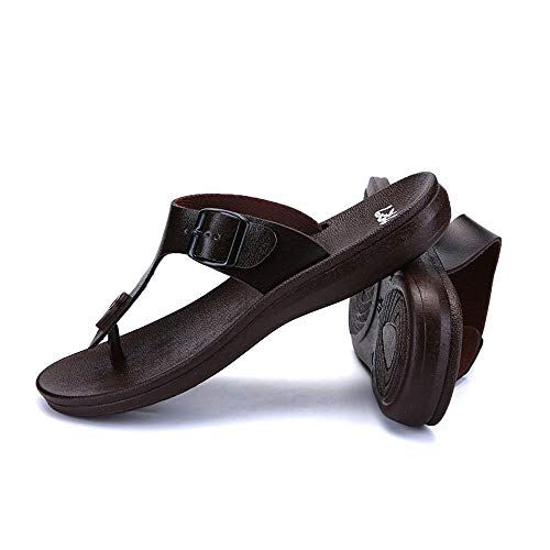 ⚡HebeTop ⚡Mens Sandals | Bottle Opener Flip Flops for Men Brown