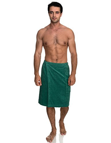 TowelSelections Men's Wrap, Shower & Bath, Terry Spa Towel Small/Medium Deep Sea