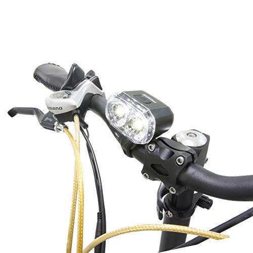 (GGSN Blaze-Lite Bicycle Headlights with 2 LED and Inner Reflector 2 AA Batteries Included)