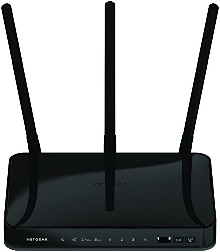 NETGEAR AC750 Dual Band Wi-Fi Gigabit Router (R6050) 3 AC750 Wi-Fi Simultaneous Dual band reduces interference External antenna for better range and throughput