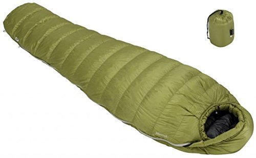 [マーモット]Marmot Hydrogen Down Sleeping Bag 寝袋 DARK CITRON/OLIVE [並行輸入品] B01N3AZ75J   Regular Left