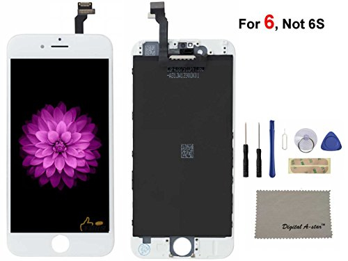 Digital A-star iphone 6 Screen Replacement For Lcd Touch Screen Digitizer Frame Assembly Set (White)