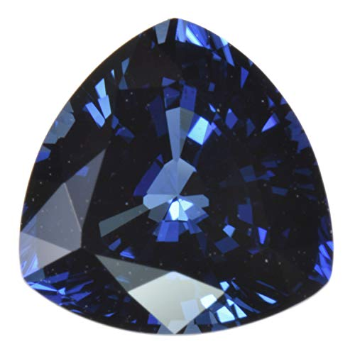 Sapphire Trillion - Blue Synthetic Sapphire Facet Gemstone Trillion 9mm x 6mm