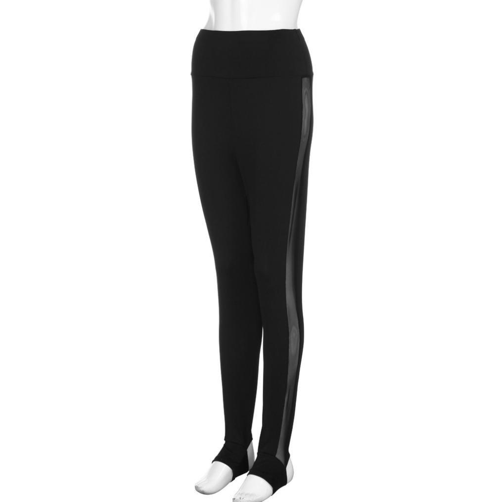 74084d21d0d Tootu Womens Mesh Splice Yoga Skinny Workout Gym Leggings Fitness ...