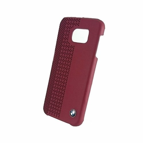 BMW Official Galaxy S6 Signature Collection Genuine Leather Hard Case Perforated RED - BMHCS6PER