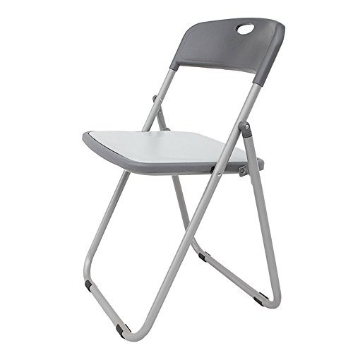 ALUS- Gray Folding Chair/Dining Chair Office Chair/Training Chair/Conference Chair/Back Chair/Outdoor Portable Table/Home dinette/(393974cm) by CXM-Chair / Stool