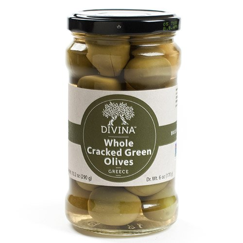 Cracked Green Olives (10 ounce)
