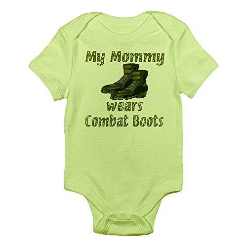 CafePress My Mommy Wears Combat Boots Infant Bodysuit - Cute Infant Bodysuit Baby Romper ()