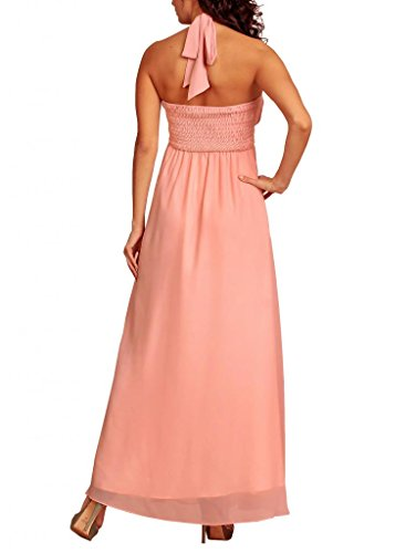 Dress Maniche Halterneck Senza Cream Donna Vestito My Basic Evening Pink RwqBYxx5