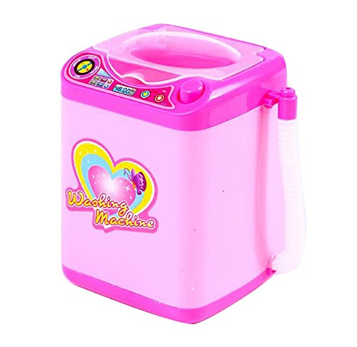 (DRAGON SONIC Children Simulation Educational Toys Cute Washing Machine Toy 11x8x8 cm-Pink )