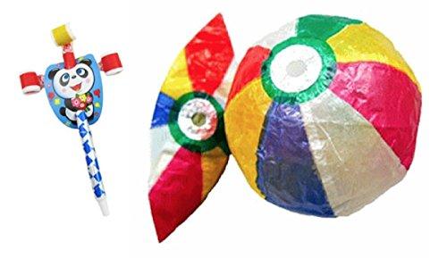 Japanese Traditional Paper Balloons Balls Set (Japan - Paper Japanese Ball