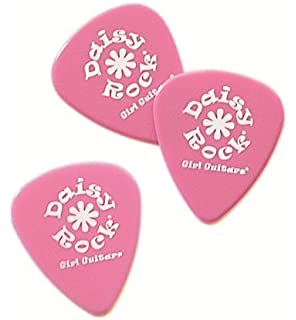 Daisy Rock 0.73mm Delrin Medium Pink Guitar Picks (12)