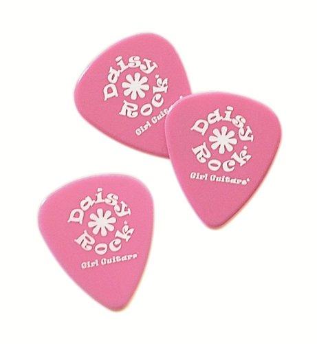 Daisy Rock 0.73mm Delrin Medium Pink Guitar Picks (12)