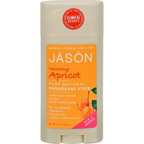 Nourishing Apricot Deodorant Stick Jason Natural Cosmetics 2.5 oz Stick