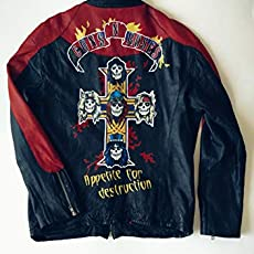 Amazon Com Custom Men Leather Jacket Hand Painted Motorcycles