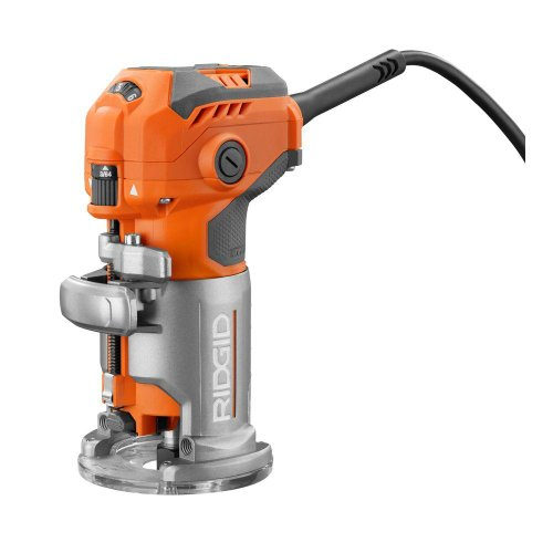 Ridgid 5.5 Amp Corded Compact Power Trim Router With Micro Adjust Dial R24012