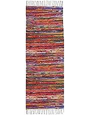 سجادة صناعة يدوية قطن مصري متعددة الاستخدامات قطعتين، 70x200 سم، 200110