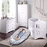 Hbitsae Baby Lounger, 100% Cotton Newborn Baby Cirb for Co-Sleeping, Portable Baby Nest Refor Travel for Newborn to 24 Months
