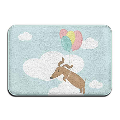 Wyuhmat1 Balloon Dog 15.7 X 23.6 Inch (40x60cm) Print Rubber Backed Mat Non Slip Doormat Play/Bedroom/Sleeping/Baby Crawling Mat