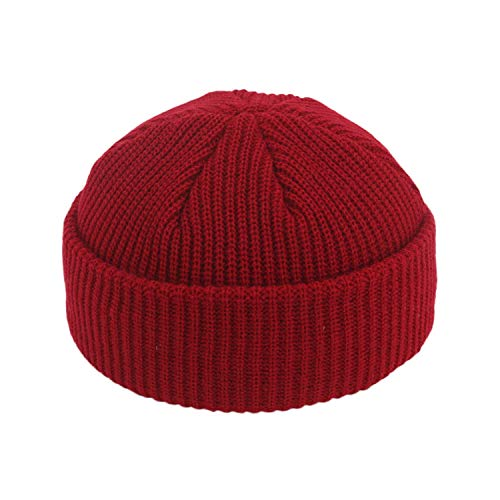 Fashion Retro Skullcap Brimless Street Hip Hop Knitted Hat Women Men Unisex Casual Solid Pumpkin Portable Cap