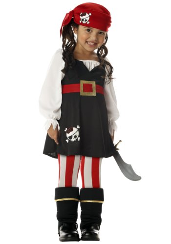 California Costumes ' Pirate Costume (x-large, Black) (Little Girls Pirate Costume)