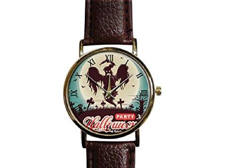 Halloween, pumpkin ,witches, watch ,Custom watch,gift watch,decorative watch,Bridesmaid Watch,neutral watch,unique watch,Wedding -