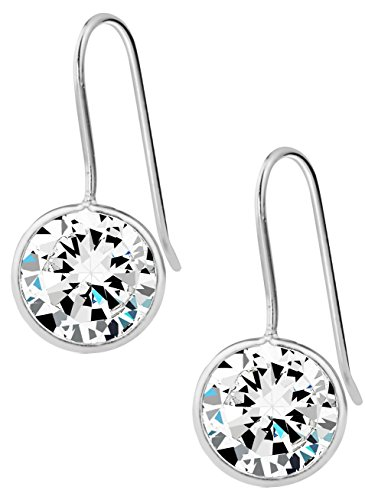 Sterling Silver Hypoallergenic Simulated Diamond 3/8