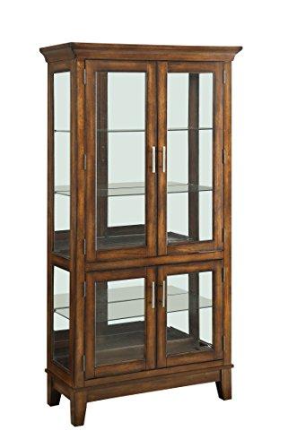 ACME Jaxon Cherry Curio Cabinet by Acme Furniture