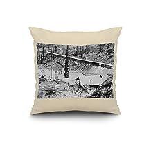 Dewey Gold Mine on Thunder Mountain, Idaho Photograph (20x20 Spun Polyester Pillow, White Border)