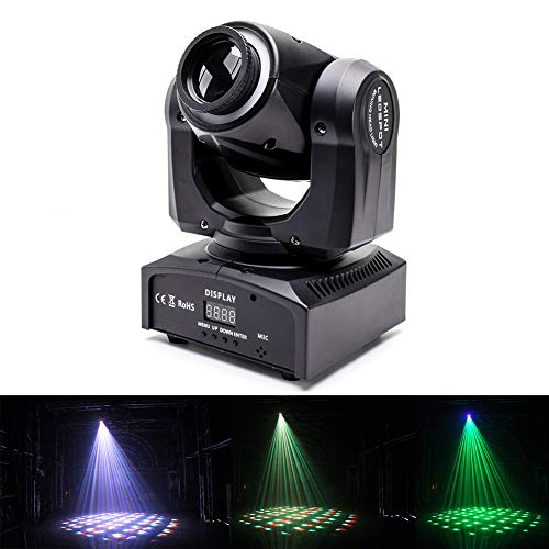 Gobo Pattern - U`King Moving Head Light 60W DMX512 4 in 1 Color Stage Lighting Kaleidoscope Gobo Patterns Wash Lights by Sound Activated Control Professional 14/16CH for Wedding DJ Disco Party Show