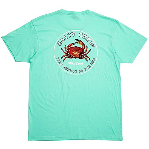 Salty Crew Men's Softshell Short Sleeve T-Shirt, Seafoam, Large