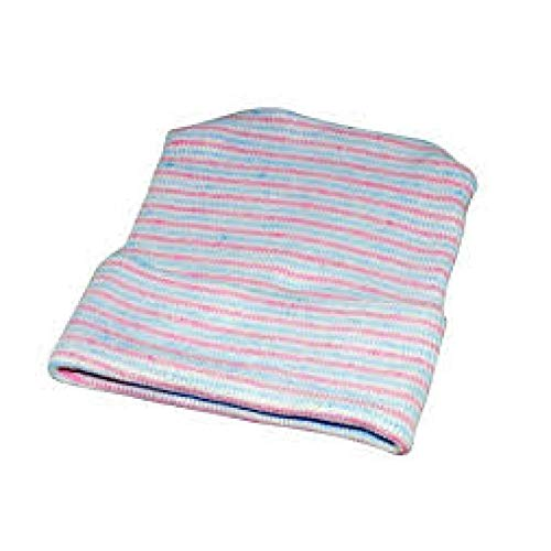 Albahealth 80006 Baby Boggan Girl Infant Cap, Double-Ply, 4'' x 5'' Size, Pink/Blue/White (Pack of 160) by Alba Health