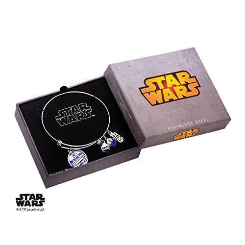 eel Star Wars R2D2 Enamel Filled Charm Expandable Bracelet (Wicked Charm Bracelet)