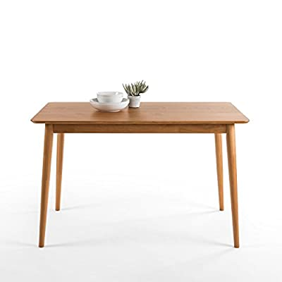 """Zinus Jen Mid-Century Modern Wood Dining Table / Natural (Renewed) - Pine wood with rounded corner details Measures 47.2"""" x 29.5"""" x 29"""" Easily assembled in minutes - kitchen-dining-room-furniture, kitchen-dining-room, kitchen-dining-room-tables - 419tZCKyqzL. SS400  -"""