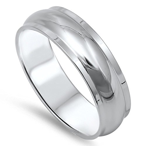 Men's Wedding Band Domed Wholesale Ring New 316L Stainless Steel Band Size 9