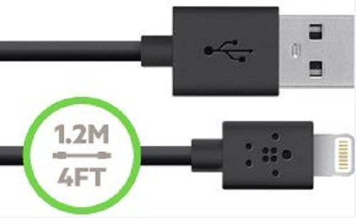 Belkin F8J078bt04-BLK F8J078 2.1 Amp Car Charger with Lightning to USB Cable - Retail Packaging - Black by Belkin (Image #2)