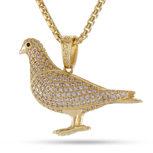 King Ice x Staple Pigeon Iced Out Pendant (14K Gold Plated) by King Ice