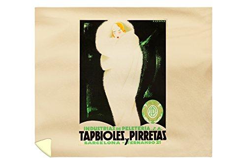 Tapbioles y Pirretas Vintage Poster (artist: Cerny) Spain c. 1929 (88x104 King Microfiber Duvet Cover) by Lantern Press