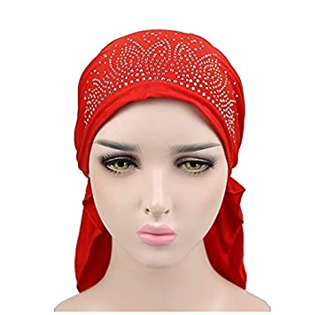 a37d01bf0 Amazon.com: Litetao Headwear for Women, Muslim Turban Hat Retro Hat ...