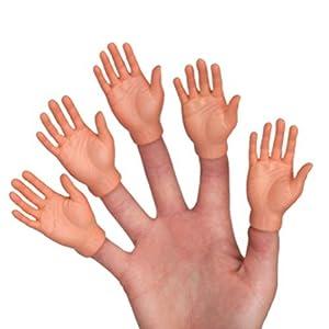 set of ten finger hands finger puppets - 419taZrQlSL - Accoutrements Set of Ten Finger Hands Finger Puppets
