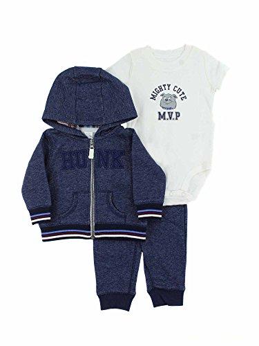 (Carter's®. Baby Boys 3-Piece Outfit Set - Jacket, Bodysuit, Pants (6M, Hunk))
