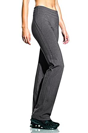 MPG MPGXXF4LB33 Womens Nouveau Boot Cut Fit and Flare Pant, Heather Charcoal, S