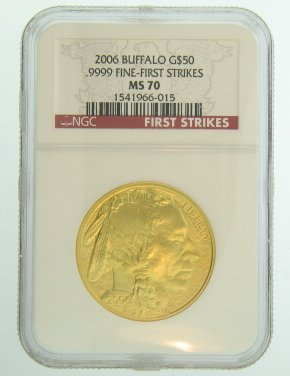 (2006 American Gold Buffalo Coins $50 MS70 NGC)