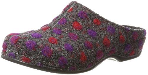 Berkemann Damen Donata Pantoffeln, Mehrfarbig (Dunkelgrau Punkt), 41.5 EU