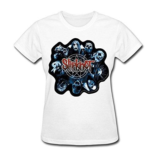 XiangXiangli Womens Slipknot O-Neck Tshirts M White (New Slipknot Masks For Sale)