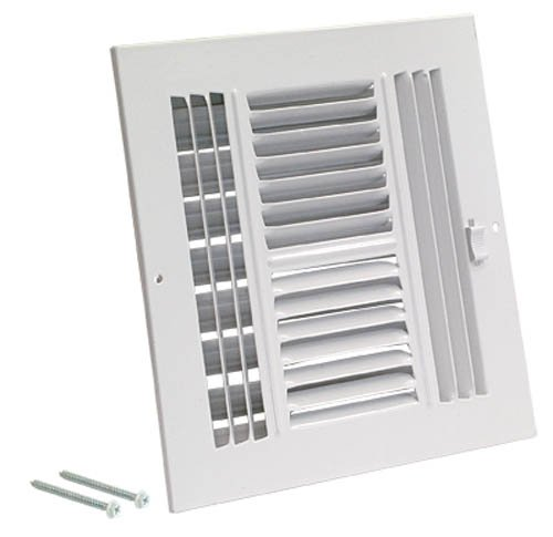 EZ-FLO 61618 Four-Way Steel Ventilation Steel Sidewall or Ceiling Air Register, 8