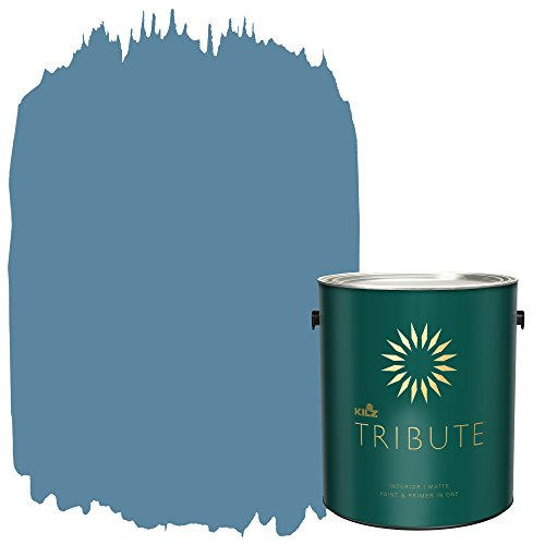 KILZ TRIBUTE Interior Matte Paint and Primer in One, 1 Gallon, Dusty Turquoise (TB-58)