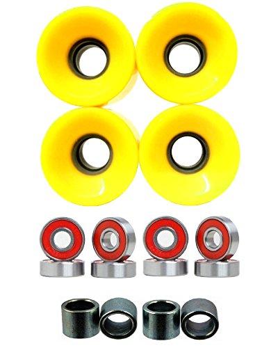 Everland Skateboard Wheels 60x44mm w/ Bearings & Spacers ...