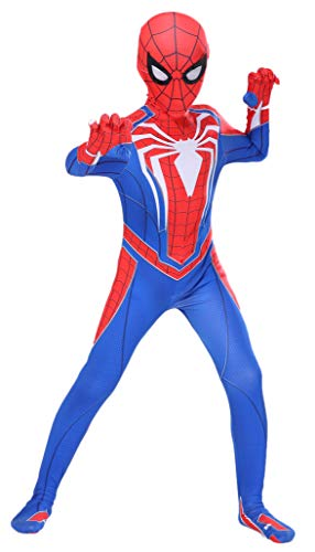 Ugoccam Superhero Kids Bodysuit 3D Style Halloween Cosplay Costumes Red/Blue -